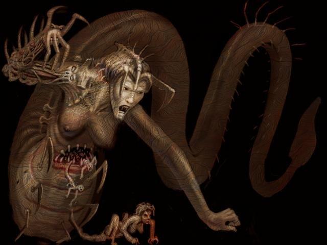 Демон змей секс