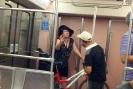 Дама с велосипедом в Афинском метро