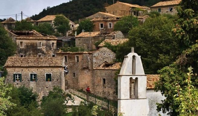 Заброшенные особняки в деревне-призраке о-ва Корфу