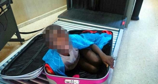 Мигрантку... провозили в чемодане