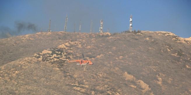 Афины: Большой пожар на горе Имиттос