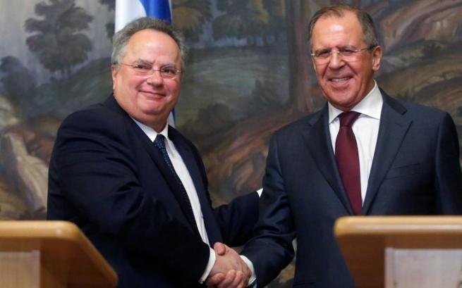 Встреча Никоса Котзиаса и Сергея Лаврова в Москве