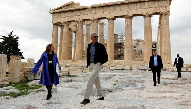Греческих журналистов не пустили на Акрополь