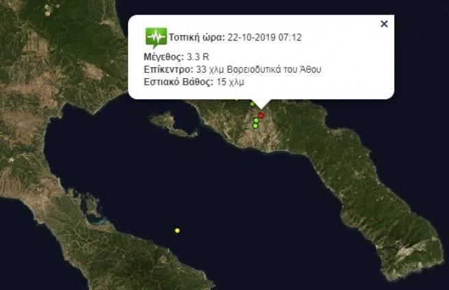 Землетрясение на Афоне 3,3 балла