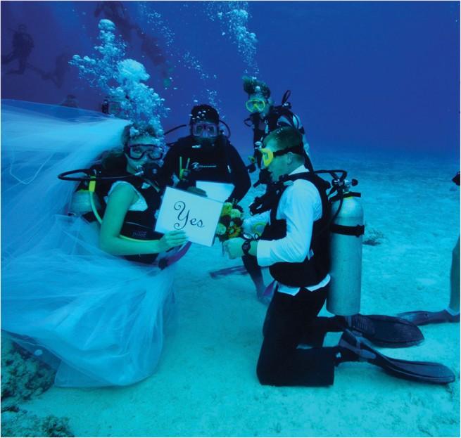 Свадьба... на дне морском