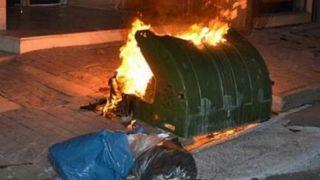 Пироман поджег 11 мусорных контейнеров