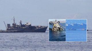 Контейнеровоз протаранил тральщик ВМФ Греции. Есть раненые