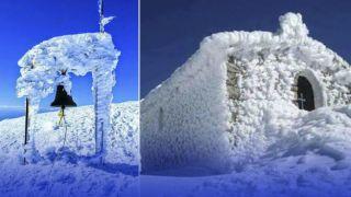 Снежный покров на Крите... высотой в 1 метр!