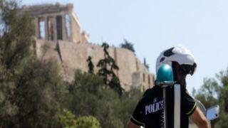 Аресты на Акрополе, Педион Ареос и в центре Афин