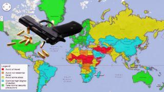 Страны с риском для путешествий в 2020 году