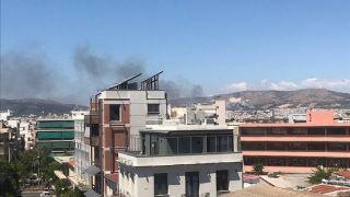 Пожар в лесопарке Афинского района Хайдари