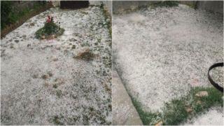 Капризы погоды: снег посреди лета