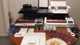 Мастерская поддельных документов ликвидирована в Пирее