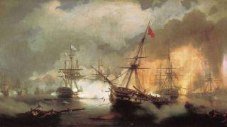 190 лет назад русская эскадра уничтожила турецко-египетский флот в Наваринском сражении