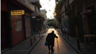 Пустые улицы Афин