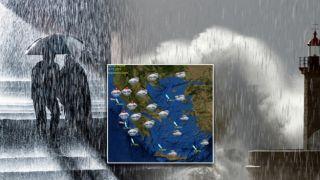 Ливни и грозы обрушатся на Афины во вторник