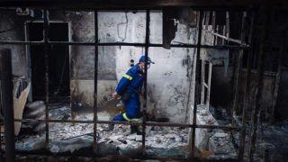 Видео начала пожара от которого сгорел Мати