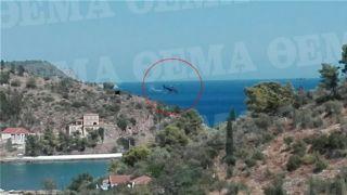 Видео, на котором видна возможная причина катастрофы вертолета.