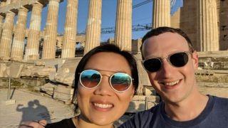 Марк Цукерберг на Акрополе
