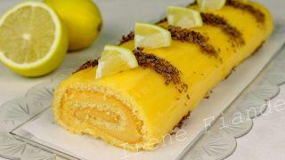 Бисквитный рулет с лимонным кремом