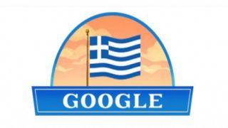 Google чтит День независимости Греции
