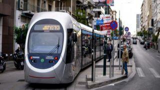 Трамвай: Пробный маршрут в Пирее