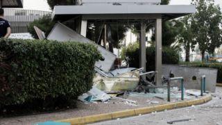 Мощный взрыв банкомата в Глифаде