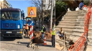 Мэрия Афин воспользовалась карантином, чтобы починить дороги и тротуары