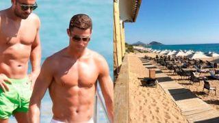 Роналду прибыл курорт Costa Navarino