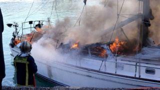 Пожар на паруснике: четверо пассажиров в больнице