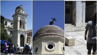 В церкви на Монастираки из-за землетрясения сломался крест