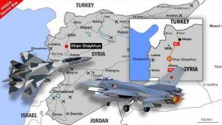 Российские Су-35 перехватили турецкие F-16 в Сирии