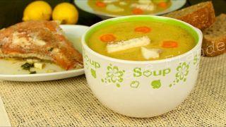 """Рыбный суп - пюре с соусом """"авго-лемоно"""""""