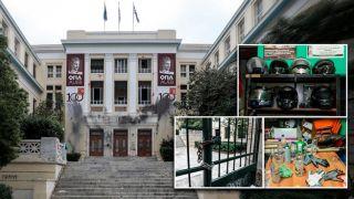 Полиция зачистила университет экономики и бизнеса от анархистов