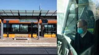 Караманлис прокатился на трамвае
