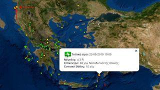 Землетрясение 4,3 баллов между островами Родос и Карпатос