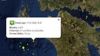 Землетрясение 4,6 балла на Закинфе