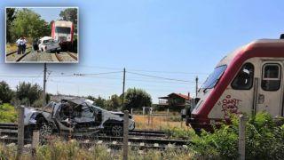 Поезд столкнулся с автомобилем, беременная погибла.