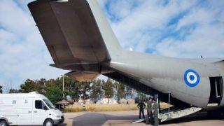 Первая авиаперевозка больных из Северной Греции в Афины
