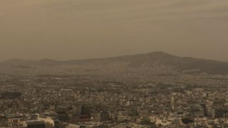 Пыль из Африки накрыла Афины