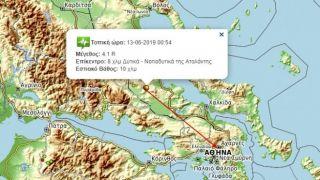 Землетрясение 4,1 балла неподалеку от Афин