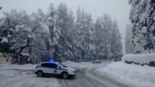 В Греции выпал снег