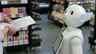 Робот Pepper в супермаркете АВ Василопулос