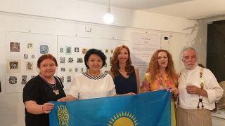 Марзия Жаксигарина приглашает на выставку Эклибриса в Афинах