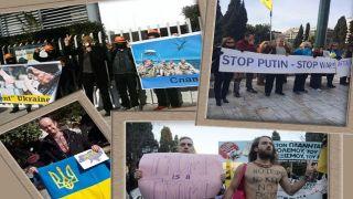 """Афины-Акции: """"Stop Putin"""", """"No Trump"""", «Нет Войне и нет расизму», «Нет сексизму», """"День Соборности Украины"""" (фото-видео)"""