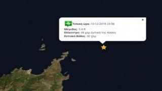 Сильное землетрясение в 5,4 Рихтера на Крите