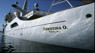 """Легендарная яхта """"Кристина О"""" в гавани Мессолонги"""