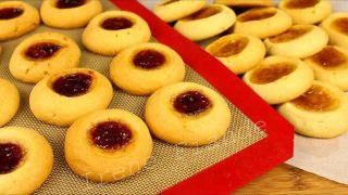 Хрустящее песочное печенье с вареньем