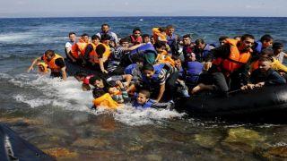 Шторм, уменьшил число прибытий нелегалов на греческие острова