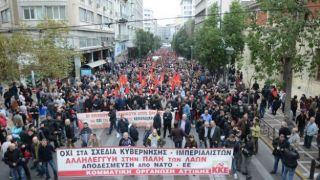 Греческие коммунисты провели митинг на 46-летие Политехнио